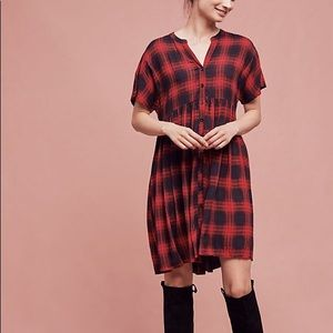 Anthropologie 11 1 tylho Mona plaid dress